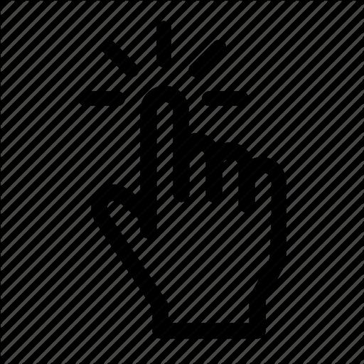 Click, Cursor, Finger, Hand, Press, Tap Icon