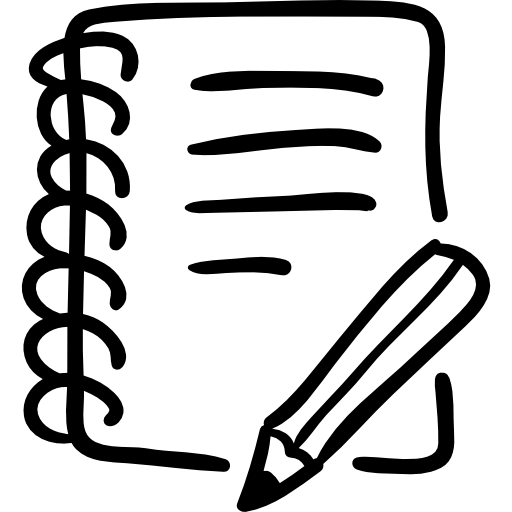 Notebook And Pencil Hand Drawn Writing Tools Icons Free Download