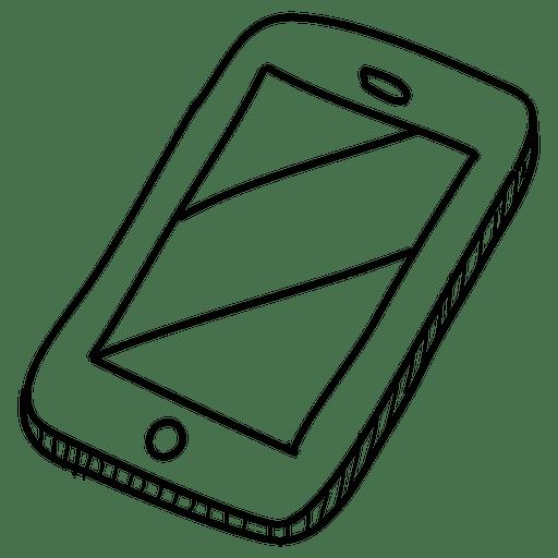 Smartphone Hand Drawn Icon