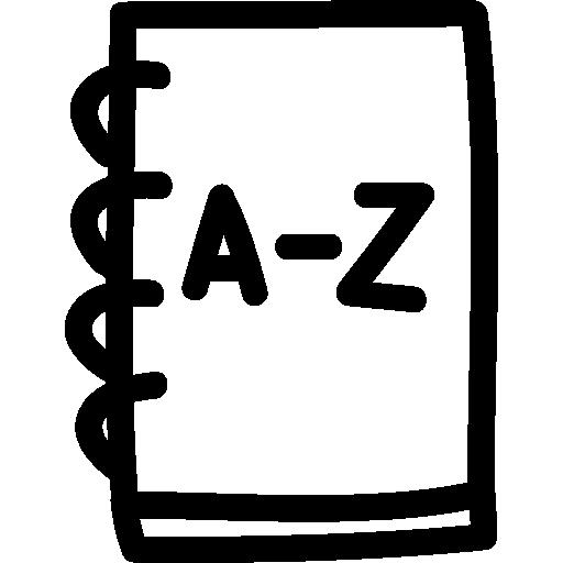 Address Book Hand Drawn Outline Icon Hand Drawn Freepik