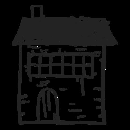 Stone House Hand Drawn Icon