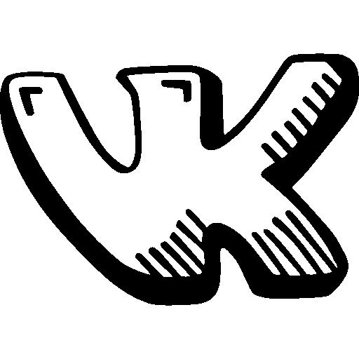Vk Vkontakte Draw Logo