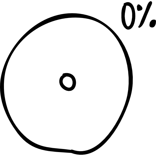 Circular Graphic Of A Loader With Percent Charged Icon Social