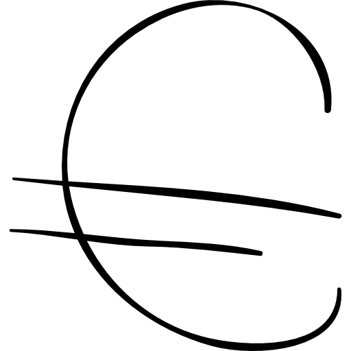 Euro Sketched Sign Icon Social Media Hand Drawn Freepik