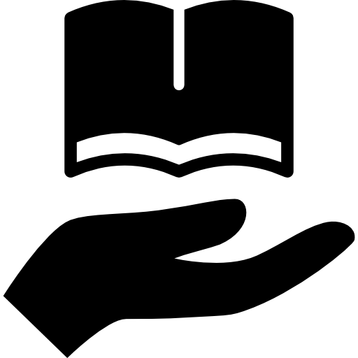 Hand Holding Up A Book Icons Free Download