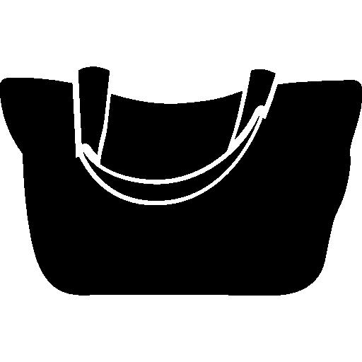 Female Black Handbag Icons Free Download