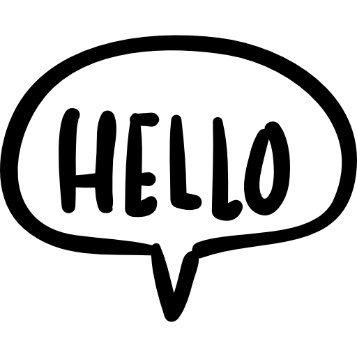 Hello Speech Bubble Handmade Chatting Symbol Icons Free Download