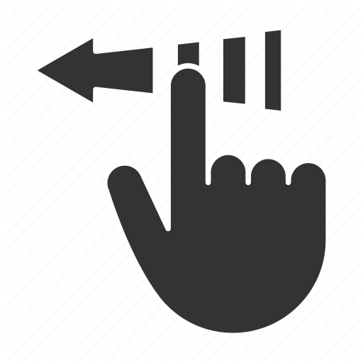 Arrow, Finger, Gesture, Point, Slide, Tap, Unclock Icon
