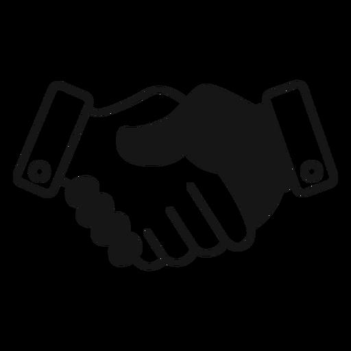 Handshake Black And White Icon