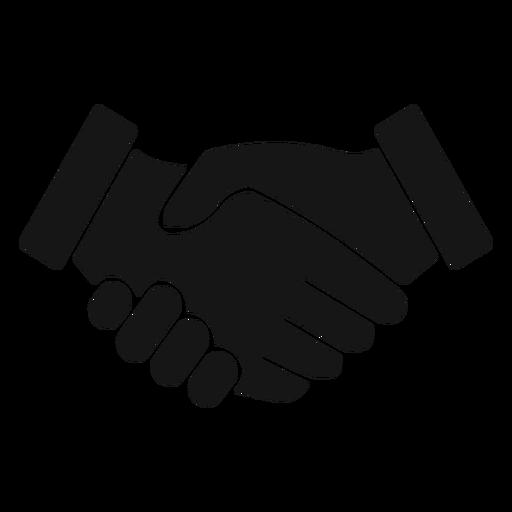 Handshake Silhouette Icon