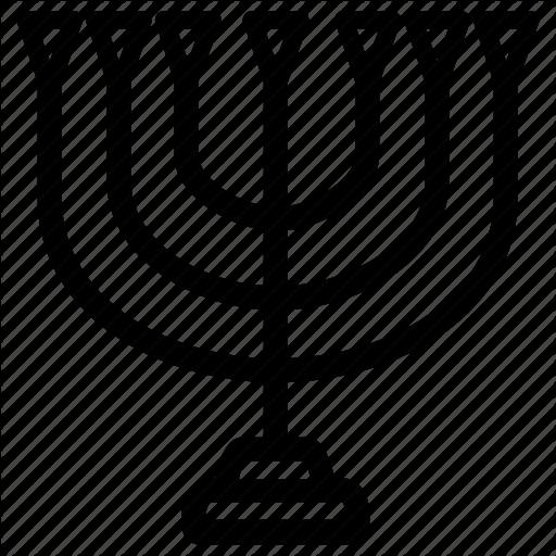 Hanukiah, Hanukkah, Holiday, Jewish, Menorah, Ydish Icon