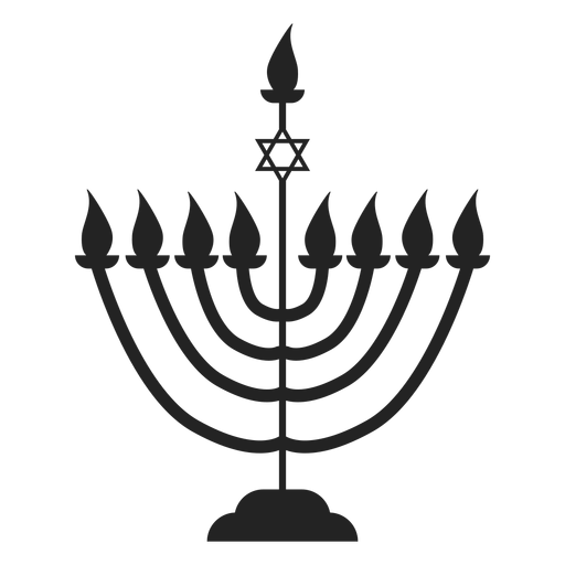 Hanukkah Candle Menorah Icon