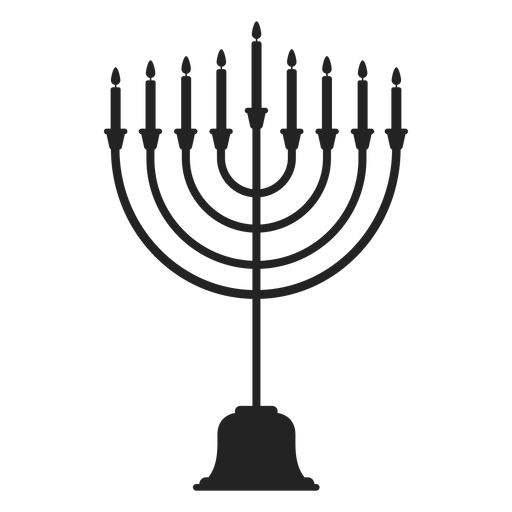 Hanukkah Menorah Candle Stand Icon