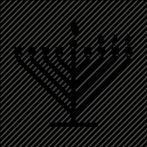 Candle Lighting, Hanukkah, Hanukkiah, Jewish, Judaica, Menorah Icon