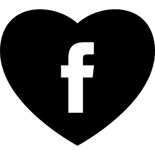 Heart With Social Media Facebook Logo Icons Free Download
