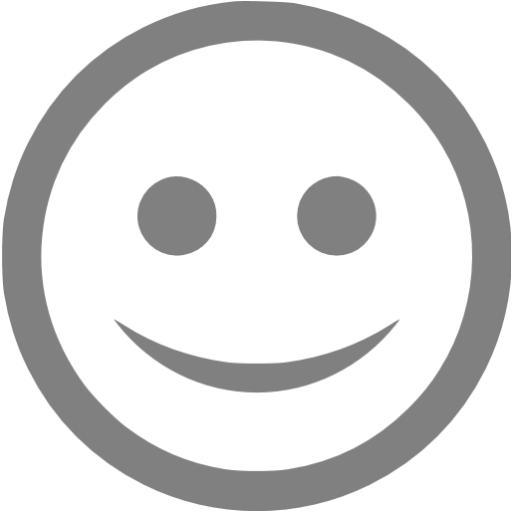 Gray Happy Icon