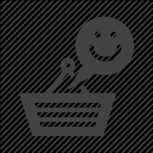 Customer, Happy Customer, Shopping, Shopping Bag, Smiley Icon