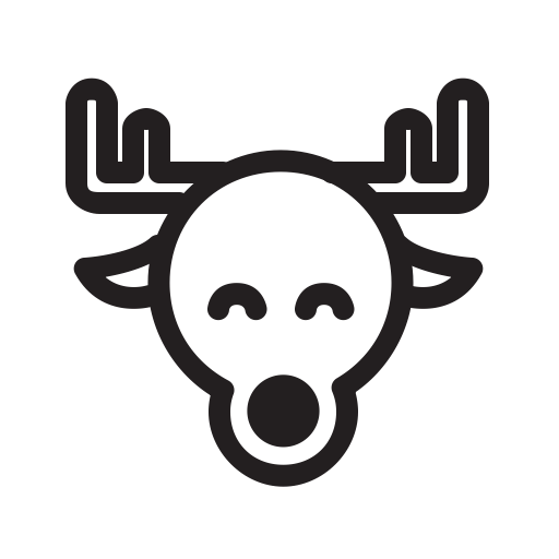Funny, Deer, Happy, Xmas, Magic, Holiday, Santa Icon