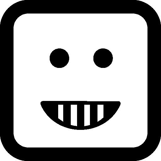 Emoticon Happy Smiling Square Face Shape