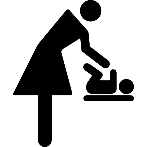 Mother Changing Baby Clothes Icons Free Download
