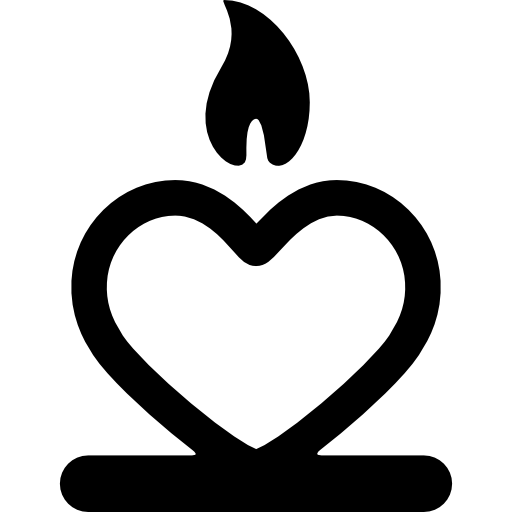Candle With A Heart Icons Free Download