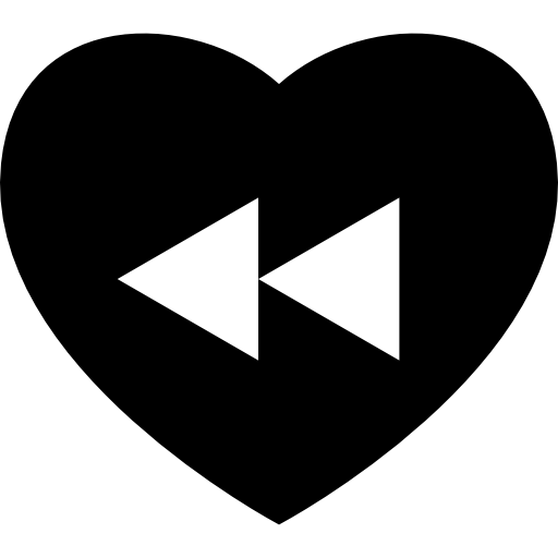 Heart Rewind Back Button Icons Free Download