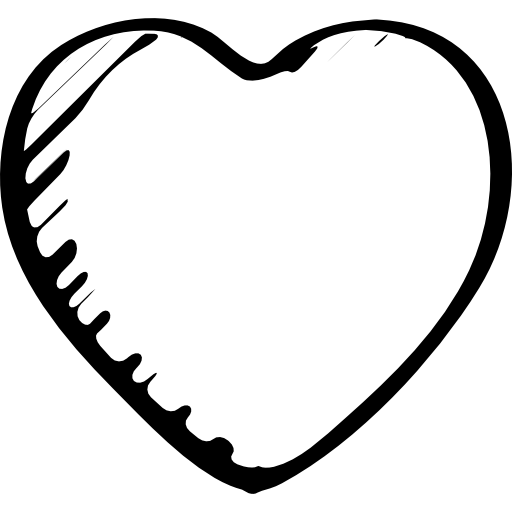 Love Or Like Heart Sketched Outlined Symbol Icons Free Download