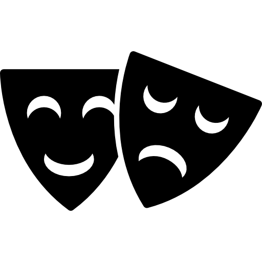 Happy And Sad Theater Masks Icons Free Download