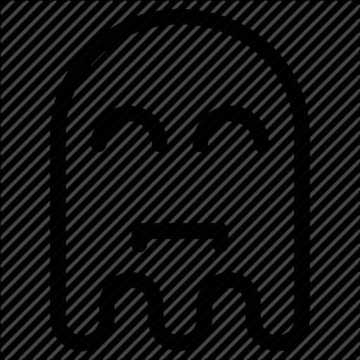 Emoji, Emoticon, Ghost, Happy, Sad Icon