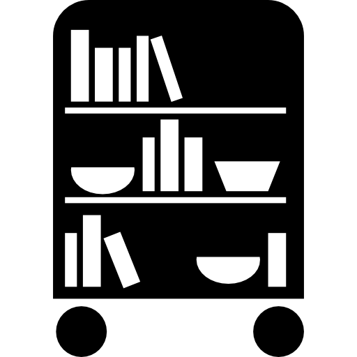 Bedroom Library Of Wheels With Books Icons Free Download