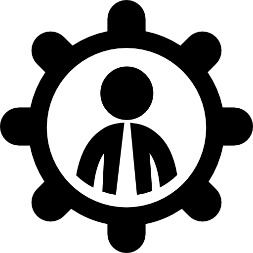 Businessman In A Wheel Symbol Icons Free Download