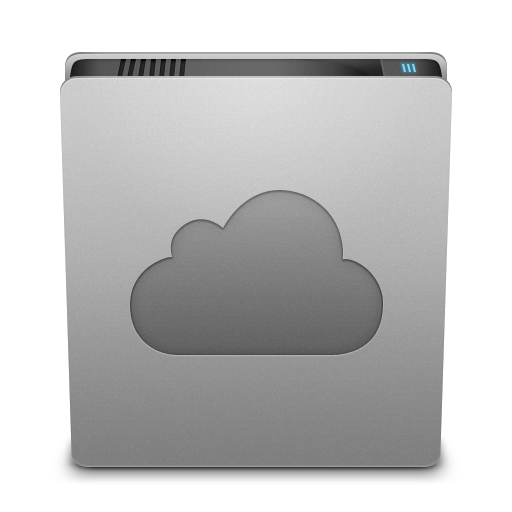 Hard Drive Cloud Icon