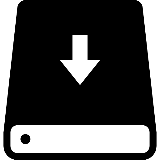 Hard Drive With An Arrow Pointing Down