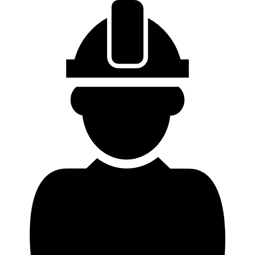 Constructor With Hard Hat Protection On His Head Icons Free Download