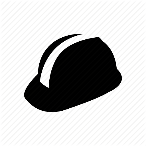 Hard Hat Icon Black And White