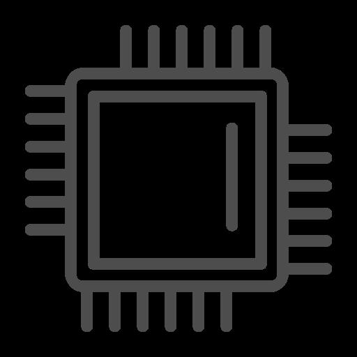 Processor Icon, Processor Line Icon, Processor, Processor Hardware