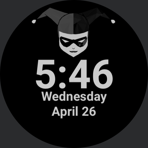 Harley Quinn Red Black Watchfaces For Smart Watches