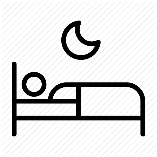 Asleep, Bed, Bedroom, Crescent, Moon, Sleep, Sleeping Icon