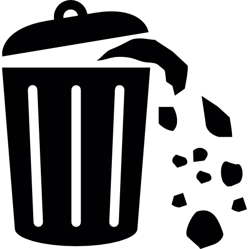 Waste Can Full Of Trash Icons Free Download