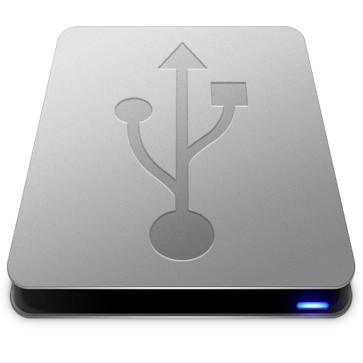 Usb Hd Drive Icon Slick Drives Iconset Thvg