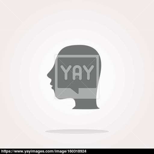 Vector Idea Head Icon Button Web Icon Art Graphic Icon Drawing