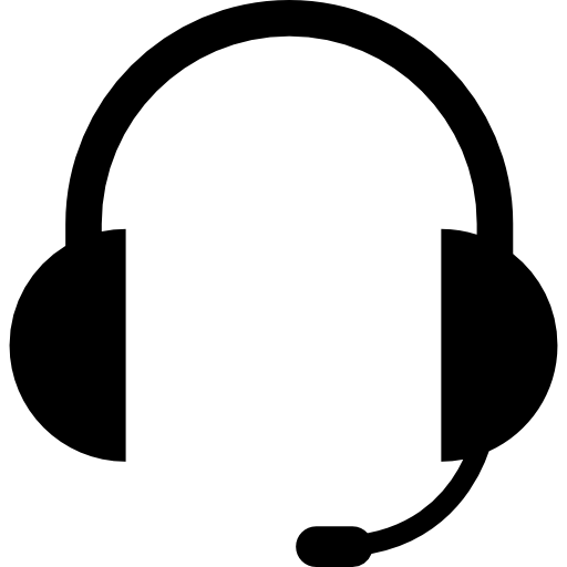Audio Headset Of Auriculars With Microphone Included Icons Free