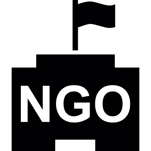 Non Government Organization Headquarters With Flag Icons Free