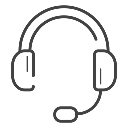 Gaming Headset Stroke Icon