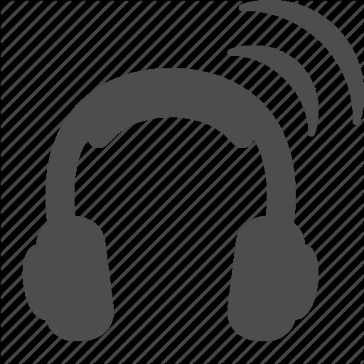 Headphones, Headset, Wifi, Wireless Icon