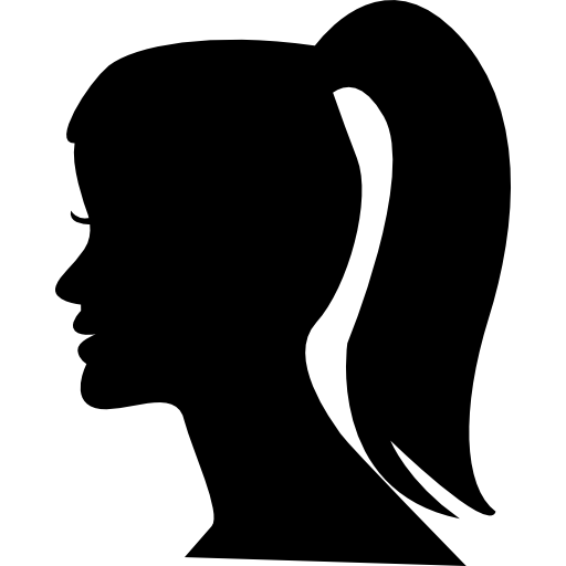 Female Head With Ponytail Icons Free Download