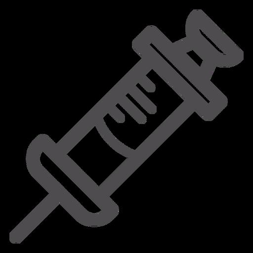 Medical Syringe Stroke Icon