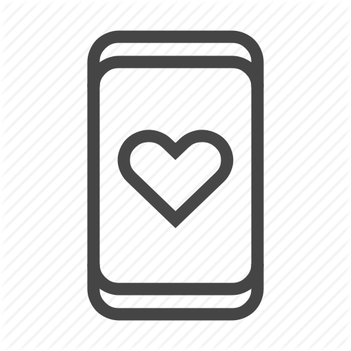 App, Dating, Heart, Love, Mobile, Phone, Smartphone Icon