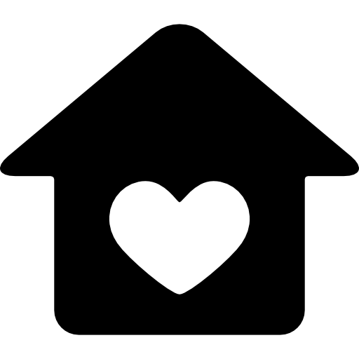 House With Heart Icons Free Download