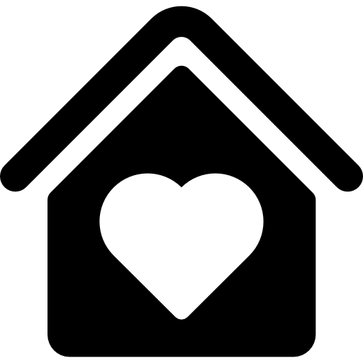 House With Heart Shape Icons Free Download